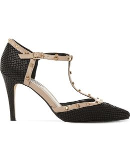 Cliopatra Studded Leather T-bar Courts