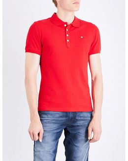 T-heal Stretch-cotton Polo Shirt