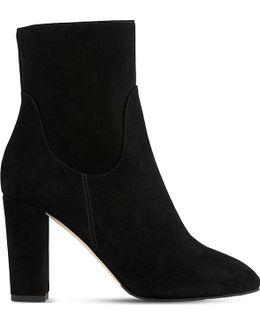 Pellino Suede Block Heel Booties
