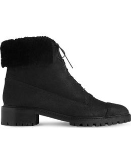 Alaska Cuffed Nubuck-leather Boots