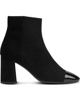 Wyatt Patent Toecap Suede Ankle Boots