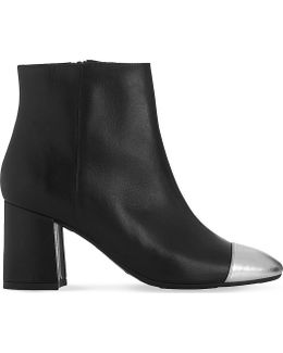 Wyatt Metallic Toecap Leather Ankle Boots