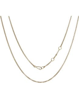 Classic 18ct Yellow-gold Long Belcher Chain Necklace