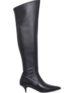 Thigh-high Leather Boots