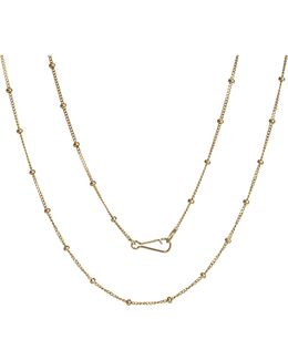 Classic Saturn 18ct Yellow-gold Long Chain
