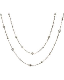 Nectar Jasmine 18Kt White-Gold And Sapphire Necklace - For Women