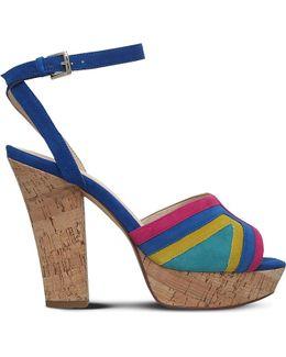 Damonica Multi-coloured Suede Sandals