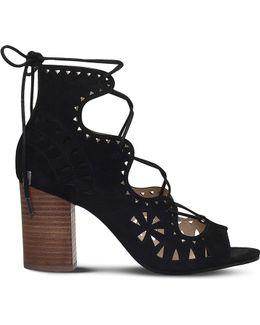 Gweniah Suede Laser-cut Sandals