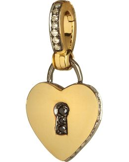 Mythology 18ct Yellow Gold And Diamond Love Charm