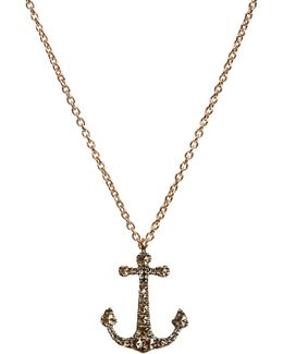 Love Diamonds 18ct Yellow-gold Anchor Pendant Necklace