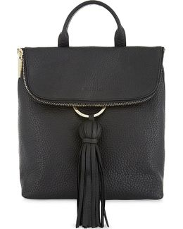 Mini Verity Grained Leather Backpack