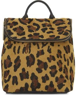 Mini Verity Leopard Haircalf Backpack