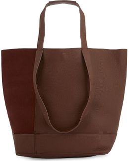 Hampson Nubuck And Grained Leather Tote