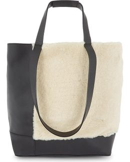 Hampson Leather And Shearling Tote