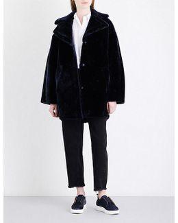 Yara Faux-fur Cocoon Coat