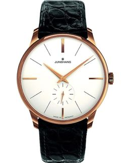 027/5202.00 Meister Pvd Gold-plated And Leather Watch