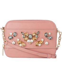 Maia Embellished Leather Cross-body Bag