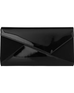 Lindy Leather And Suede Clutch Bag
