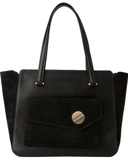 Natasha Leather And Suede Tote Bag