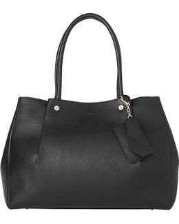 Regan Pelated Leather Tote