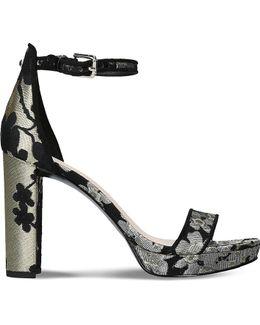Dempsey Embroidered High Heel Sandals