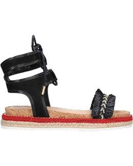 Pebble Tie-up Sandals