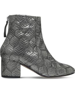 Slim Block Heeled Ankle Boots