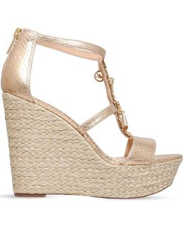 Suki Metallic-leather Platform Sandals