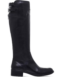 Weather Knee-high Leather Boots
