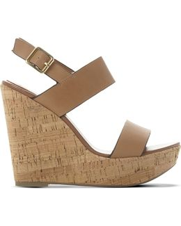 Esme Leather Wedge Sandals