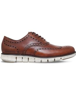 Cole Hann Zerøgrand Wingtip Leather Dress Shoes
