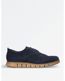 Zerøgrand Wingtip Suede Oxford Shoes