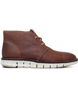 Cole Hann Zerøgrand Leather Chukka Boots