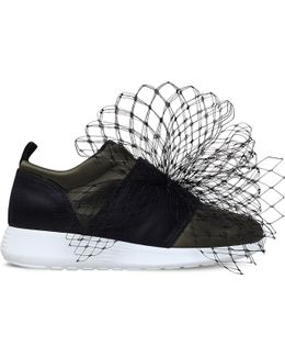 Letty Net Details Satin Trainers