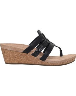 Maddie Strappy Leather Wedge Sandals