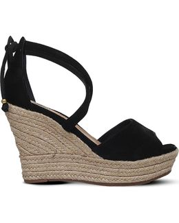 Reagan Leather Wedge Sandals