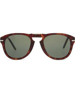 Po2431 Tortoiseshell Square-frame Sunglasses