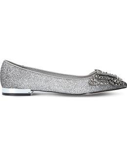 Nabeela Embellished Glitter Flats