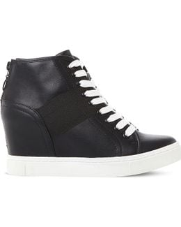 Lussious Lace-up Wedge Trainers