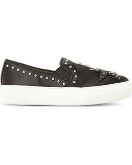 Star Embellished Satin Skate Shoes