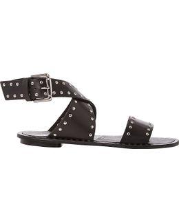 Lexxie Studded Leather Gladiator Sandals