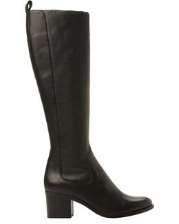 Teyla Stretch Leather Knee High Boots