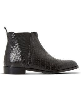 Palla Reptile-print Chelsea Boots