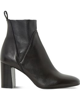Powa Stretch-leather Ankle Boots
