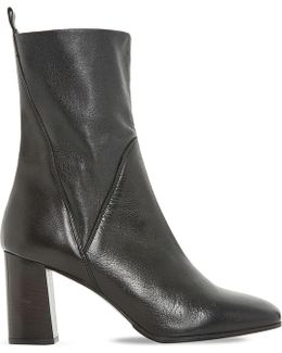 Pattison Stretch Leather Ankle Boots