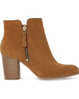 Phollie Double-zip Suede Ankle Boots