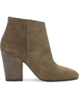Patina Suede Heeled Ankle Boots