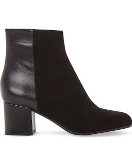Orsen Leather And Suede Ankle Boots