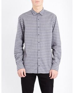 New York-fit Striped Cotton Shirt