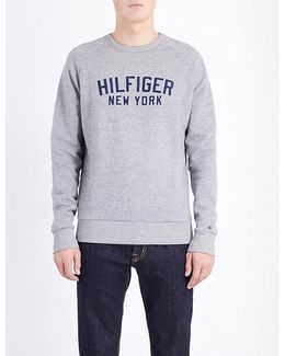 Allen Brand Logo Cotton-blend Sweatshirt